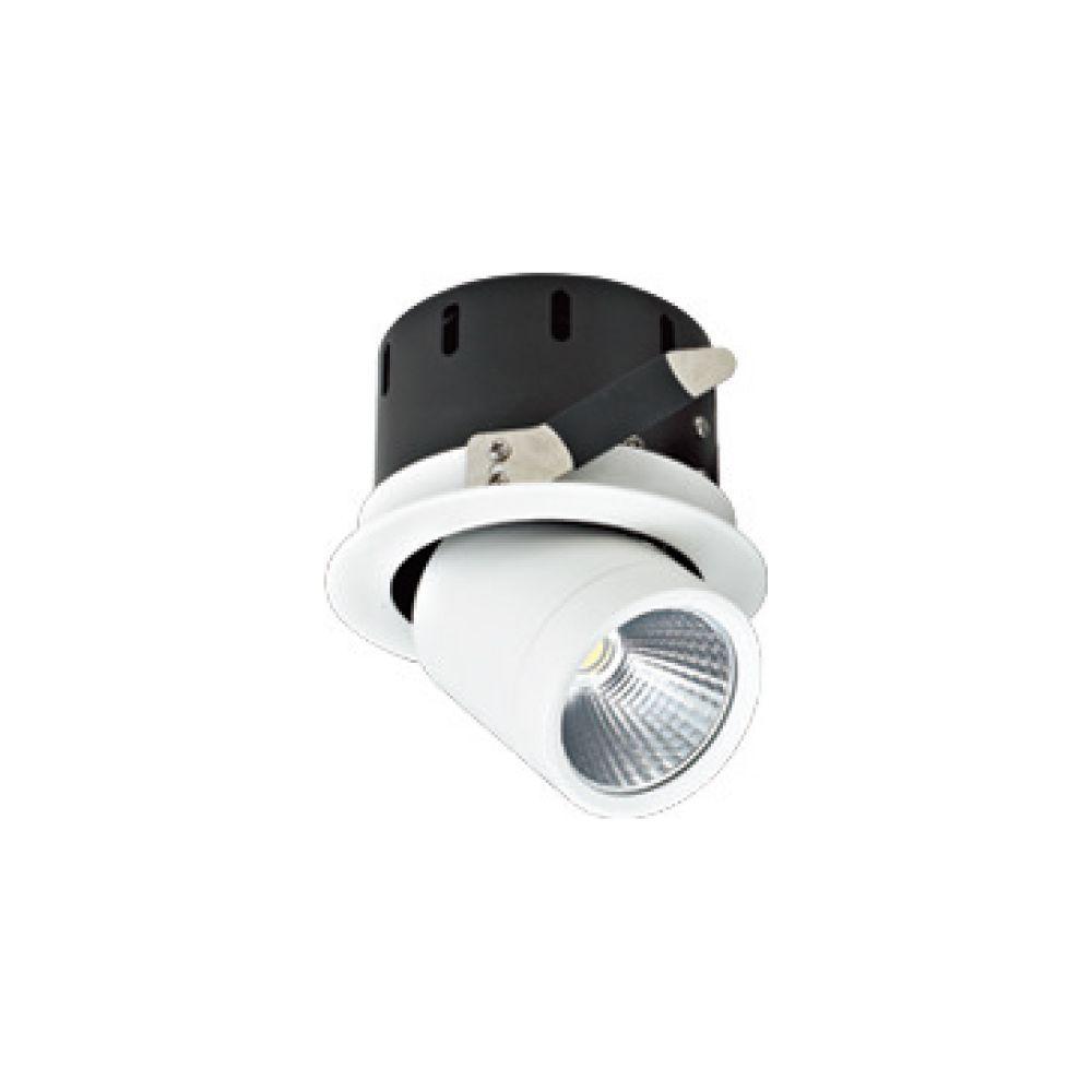 Luminária embutida direcionável Led 3000k (Luz Amarela) 18w