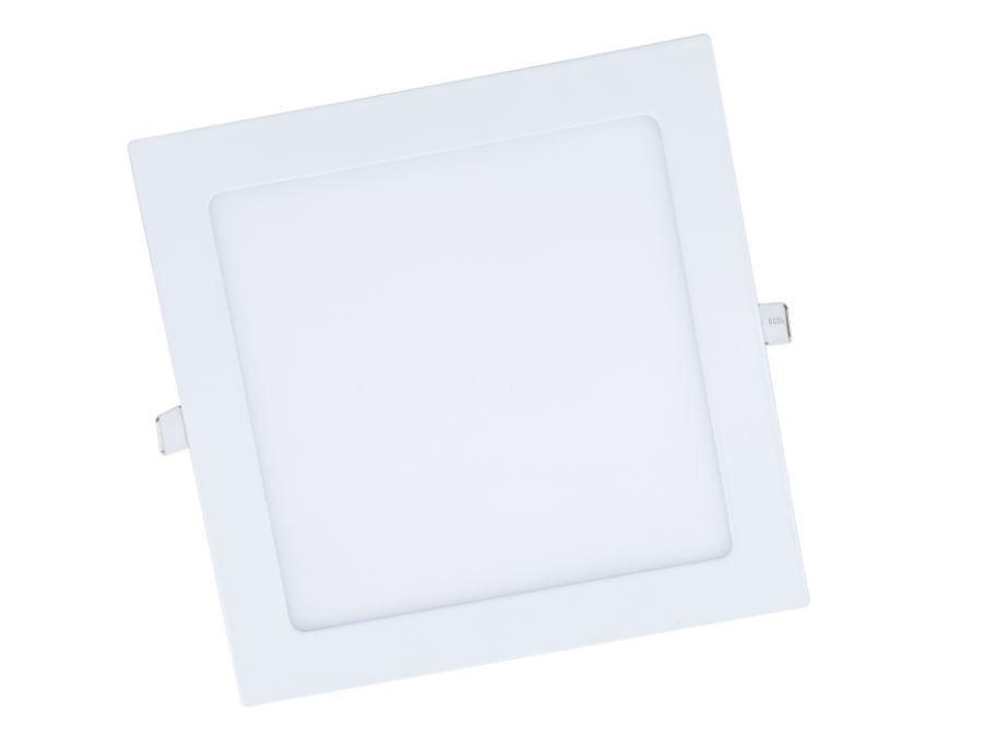 Painel de embutir Quadrado de 3w 3000k (Luz Amarela)