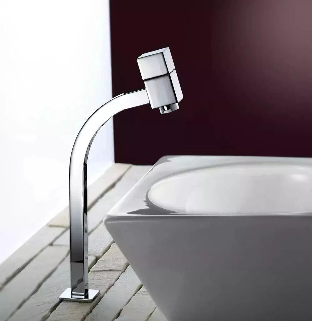 Torneira Banheiro Link Quadrada 1/4 De Bica Baixa 45 °:c