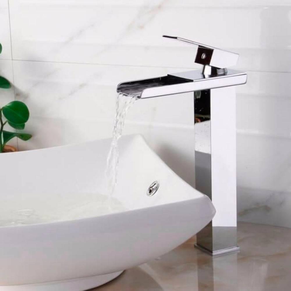 Torneira Banheiro Monocomando Lavabo Bica Alta Cascata :o