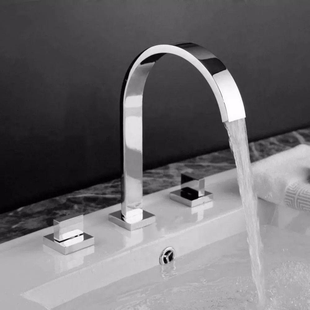 Torneira Misturador Banheiro com Duplo Comando :E