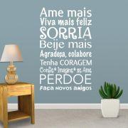ADESIVO DE PAREDE - FRASE: AME MAIS 2