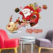 Adesivo de Porta e Parede - Papai Noel 4