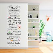 """Projeto Especial - ADESIVO DE PAREDE """"SEJA BEM-VINDO"""" 50x170cm"""