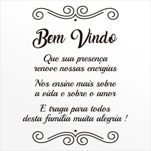 ADESIVO DE PAREDE - FRASE: BEM-VINDO!