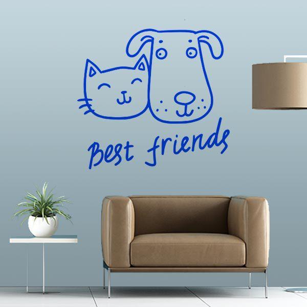 ADESIVO DE PAREDE - FRASE: BEST FRIENDS