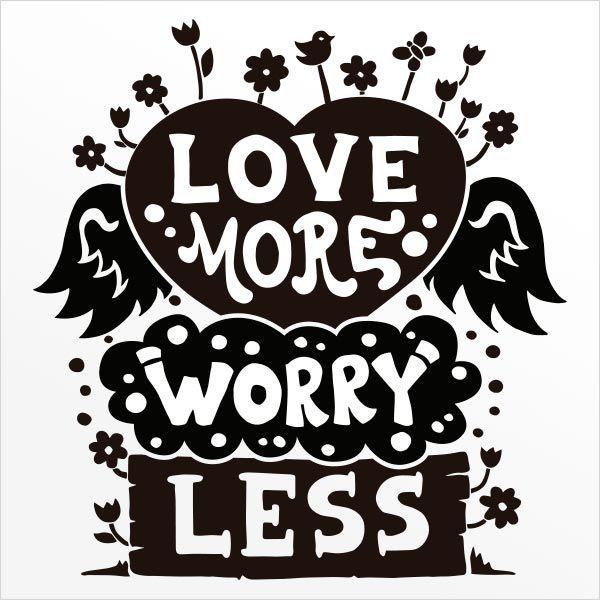 ADESIVO DE PAREDE - FRASE: LOVE MORE...