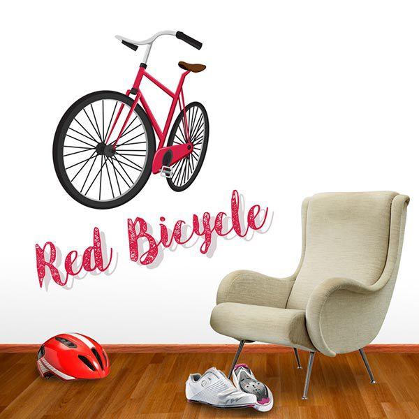 ADESIVO DE PAREDE - FRASE: RED BICYCLE