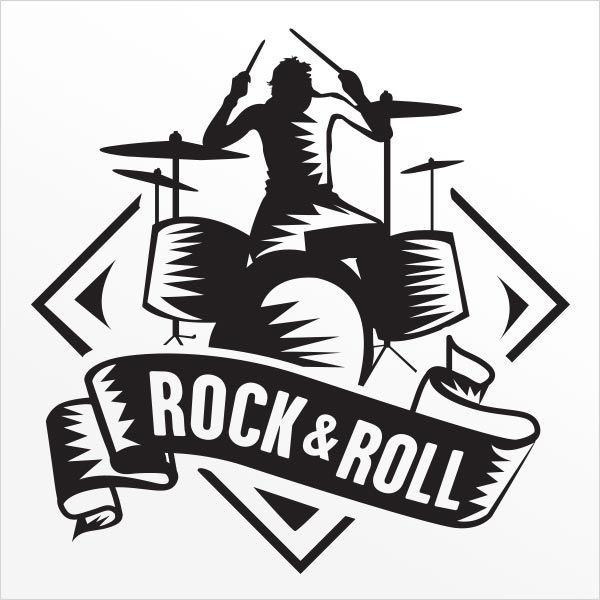 ADESIVO DE PAREDE - FRASE: ROCK MUSIC 2