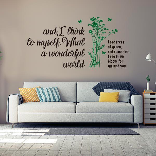 ADESIVO DE PAREDE - FRASE: WONDERFUL WORLD 2