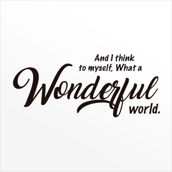 ADESIVO DE PAREDE - FRASE: WONDERFUL WORLD 3