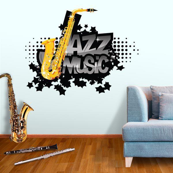ADESIVO DE PAREDE - JAZZ MUSIC