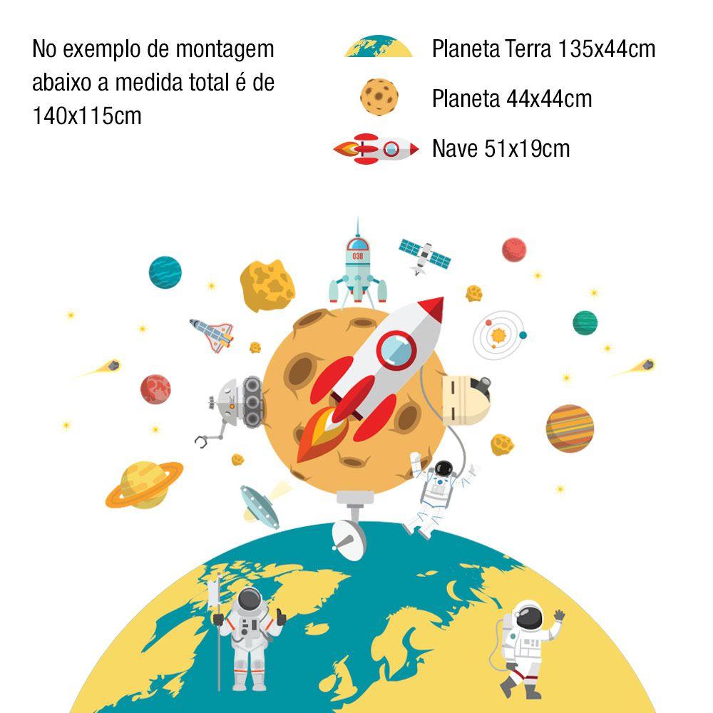 Adesivo de parede Kit Planetas 1
