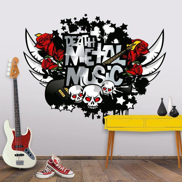 ADESIVO DE PAREDE - METAL MUSIC
