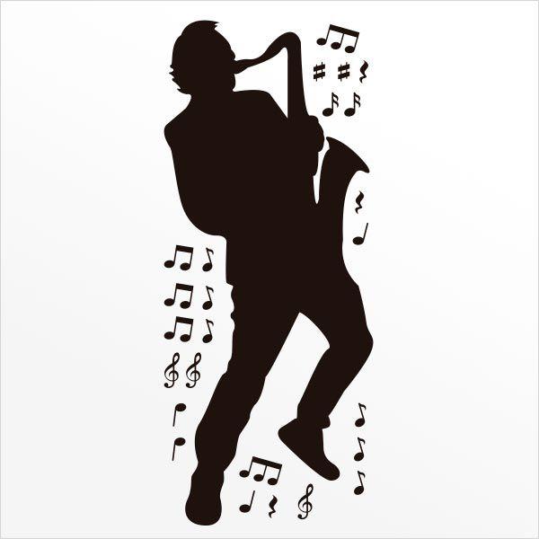 ADESIVO DE PAREDE - MUSICA SAXOFONISTA 2