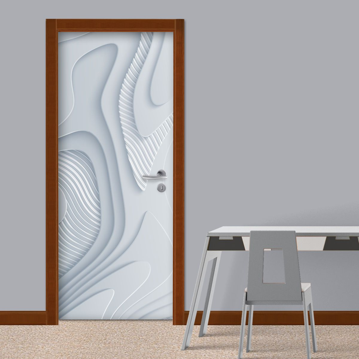 ADESIVO DE PORTA -  Abstrato 3D 1