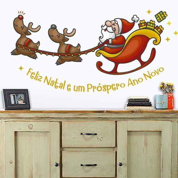 Adesivo de Porta e Parede - Papai Noel 1