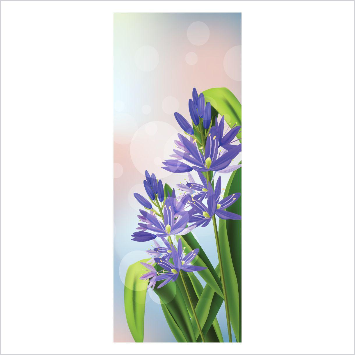 ADESIVO DE PORTA - Flor Azul 4