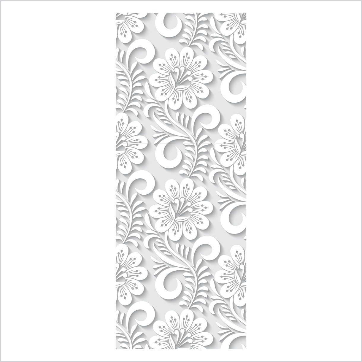ADESIVO DE PORTA - Floral 3D 4
