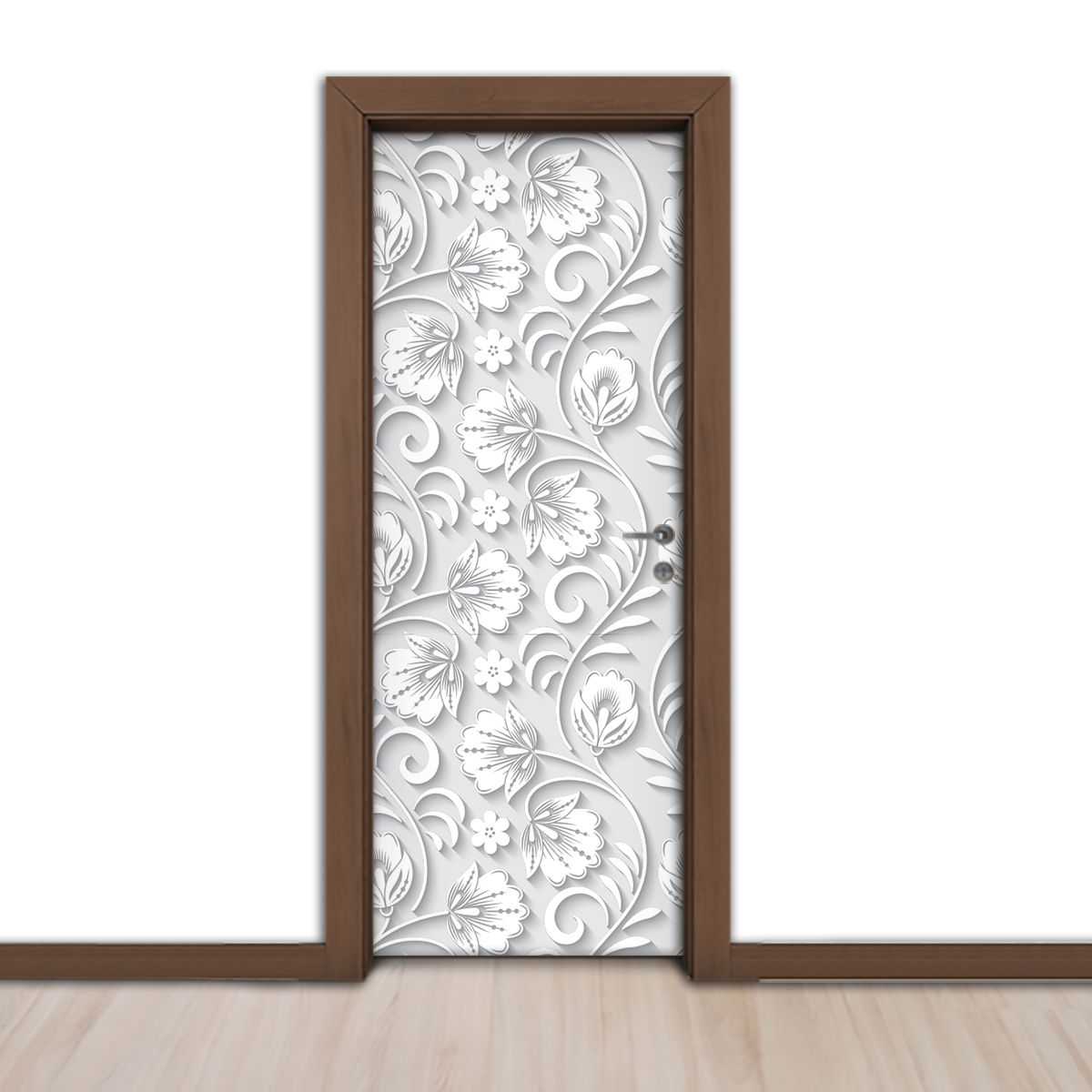 ADESIVO DE PORTA - Floral 3D 5