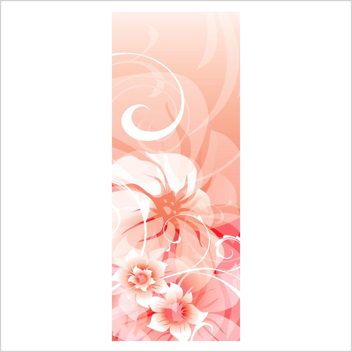 ADESIVO DE PORTA - Floral Contemporâneo 2