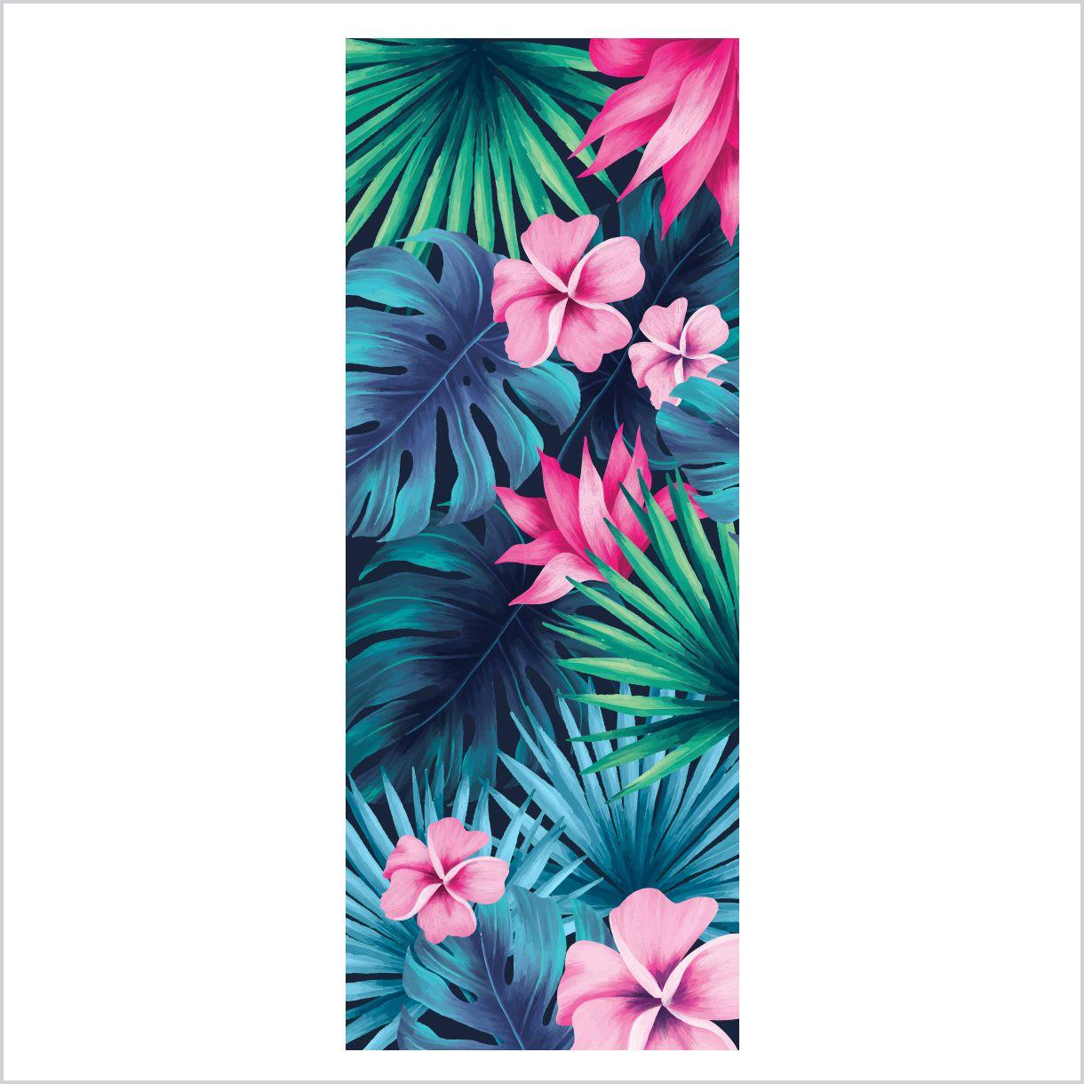 ADESIVO DE PORTA - Floral Tropical