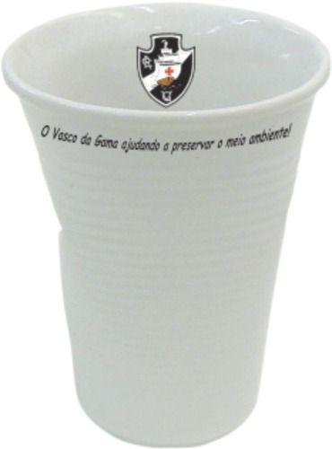 Copo Vasco Tipo Descartável, Amassado Em Porcelana