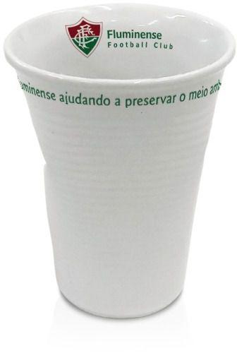 Copo Fluminense Tipo Descartável, Amassado.
