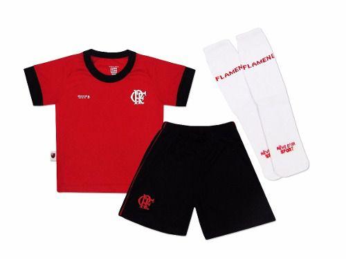 Kit Conjunto Infantil Artilheiro Oficial Flamengo