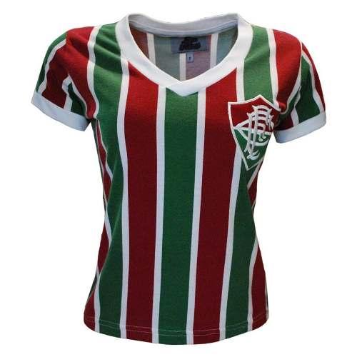 Camisa Retrô Fluminense Mundial 1952 Feminina