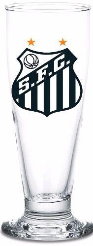 Copo Chopp Cerveja 300 Ml Com Lata Cofre Santos