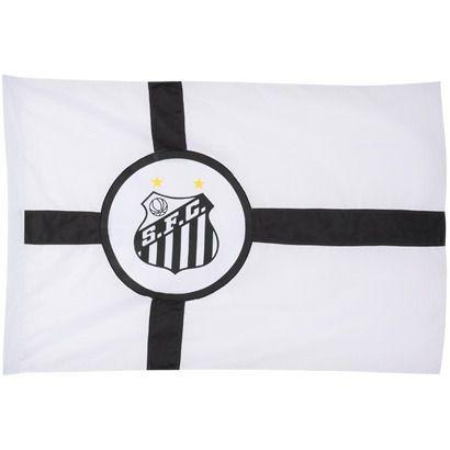 Bandeira Torcedor Oficial - 2 Panos 1,30 X 0,90 Cm. Santos