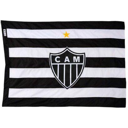Bandeira Oficial - 2 Panos 1,30 X 0,90 Cm. Atlético