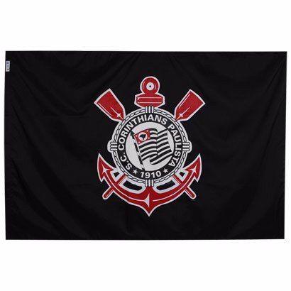 Bandeira Oficial - 3 Panos 1,92 X 1,35 Cm. Corinthians