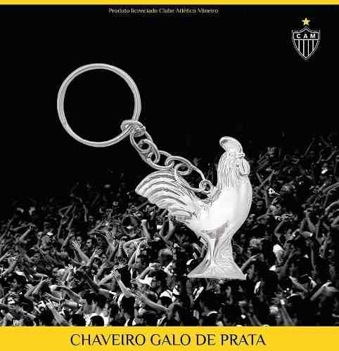Chaveiro Galo De Prata - Atlético Mineiro - Licenciado