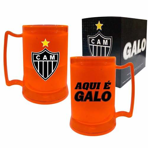 Caneca Chopp Gel - Aqui É Galo - Atlético