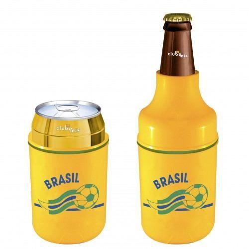 Porta Lata Ou Long Neck Do Seu Time! Brasil