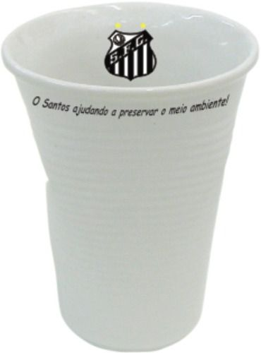 Copo Santos Tipo Descartável, Amassado.
