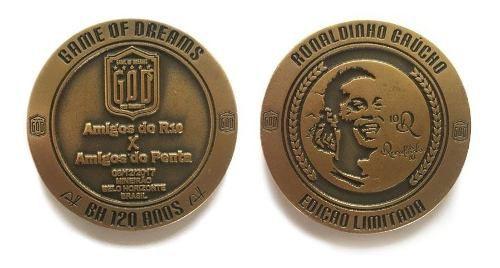 Moeda Comemorativa Ronaldinho Gaúcho Edição Limitada.