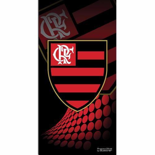 Toalha De Banho Veludo Estampado Reativo - Flamengo