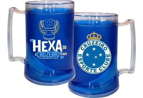 Caneca Chopp Gel Cruzeiro Hexa