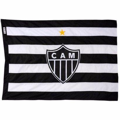 Bandeira Oficial - 4 Panos 2,56 X 1,80 M. Atlético - Galo