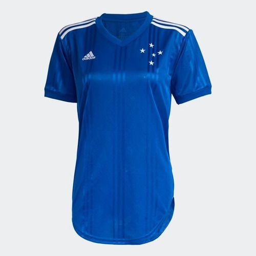 Camisa Cruzeiro 1 20/21 S/nº Torcedor Adidas Feminina