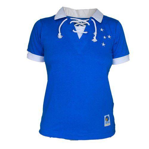 Camisa Feminina Polo Retro Dirceu Lopes Cruzeiro