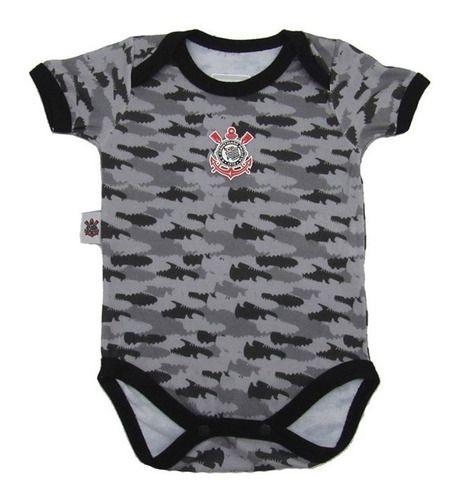 Body Bebê Corinthians Camuflado Oficial