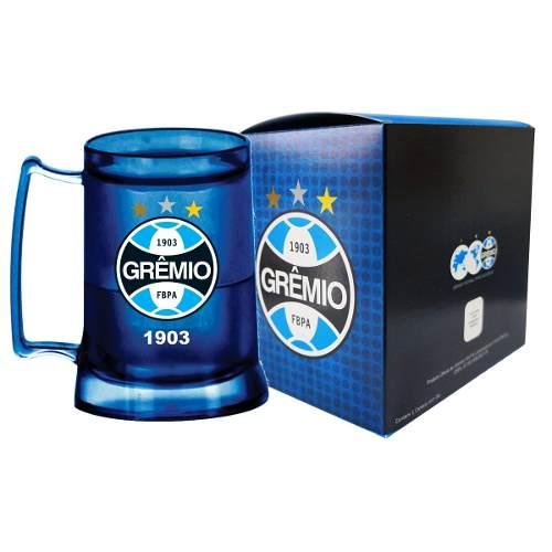 Caneca Chopp Gel Azul - Grêmio