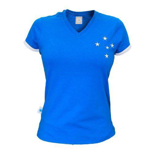 Camisa Feminina Estrelas Bordadas Cruzeiro