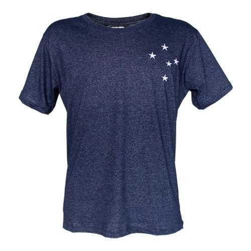 Camisa Mescla Masculina Estrelas Bordadas Cruzeiro