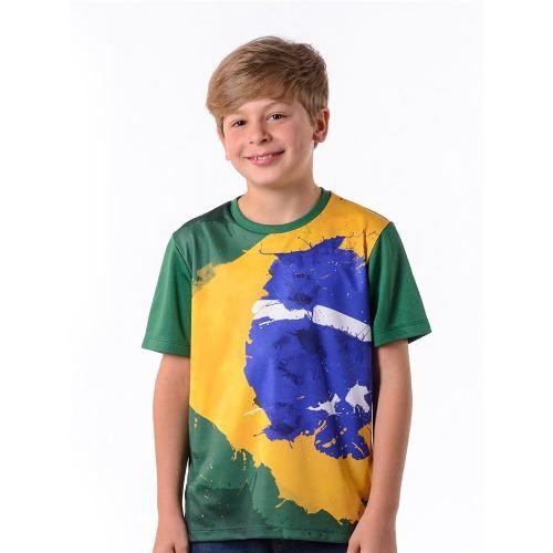 Camisa Brasil Solimões Infantil Hexa