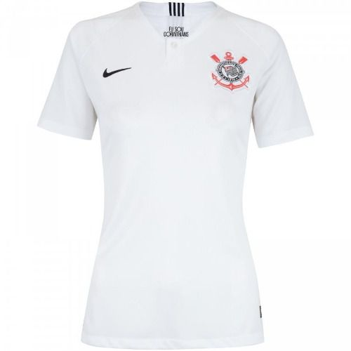 Camisa Corinthians I 18/19 S/n° Torcedor Nike Feminina